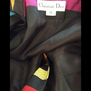 Dior Jackets & Coats - Christian Dior Vintage 1980s Black Multi-Color